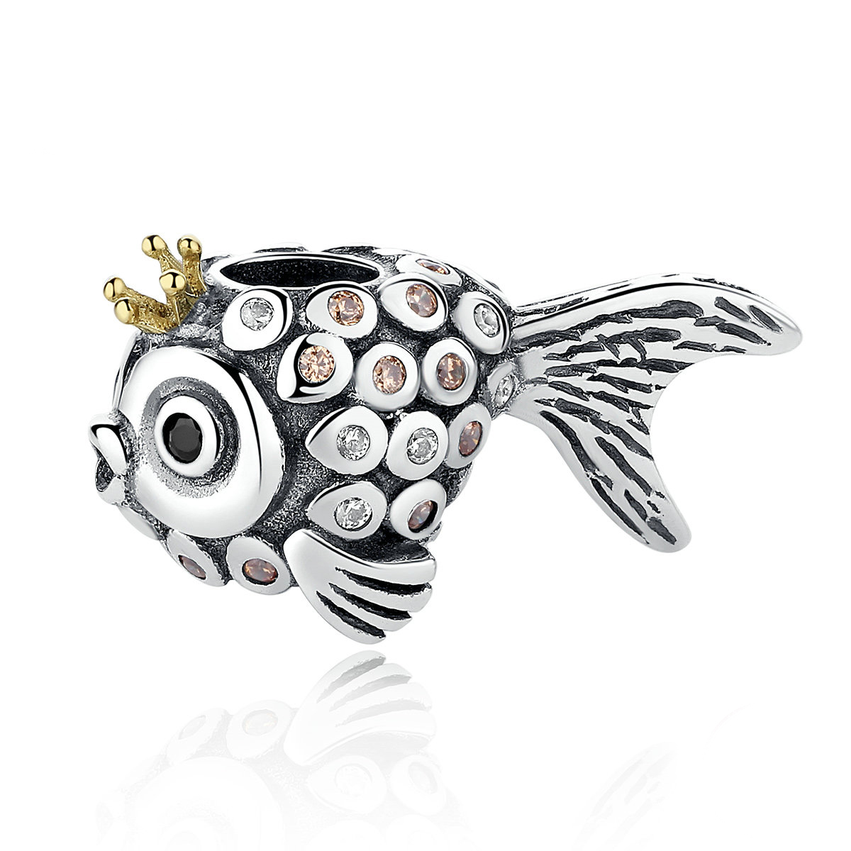 Charm Din Argint 925 - Gold Fish