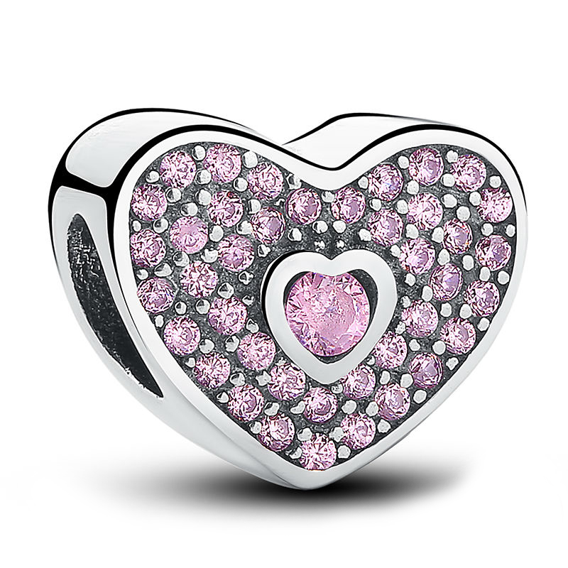 Charm din argint 925 Sweetheart Fancy Pink