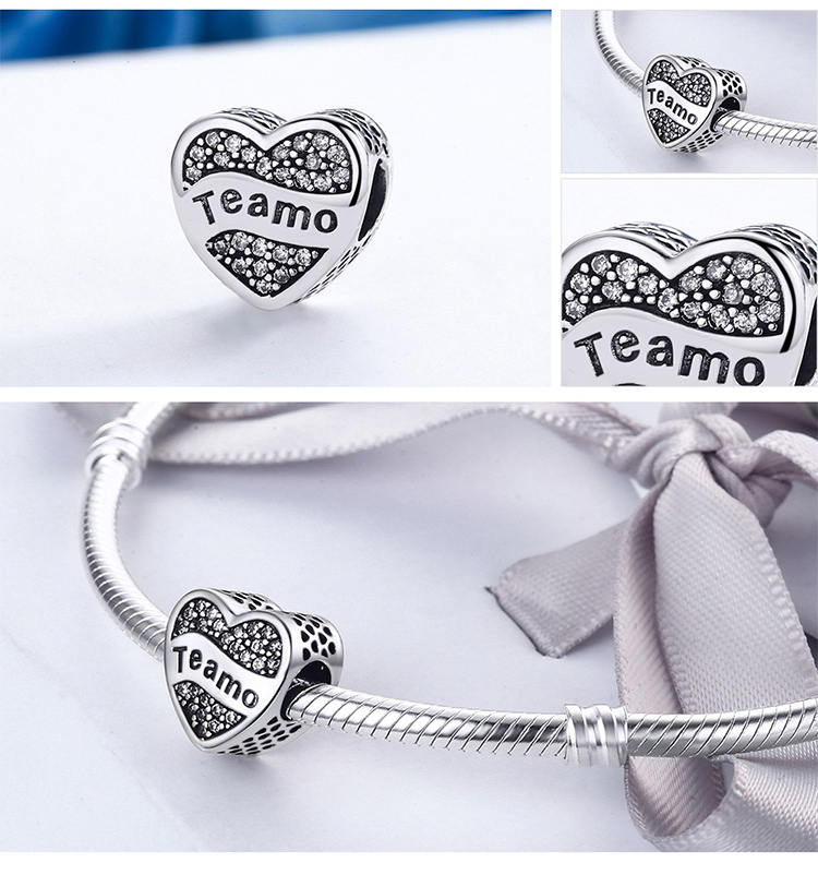 Charm din argint 925 - Teamo
