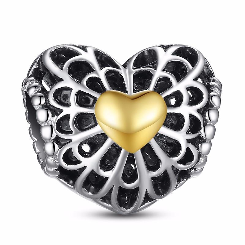 Charm Din Argint 925 - Vintage Heart