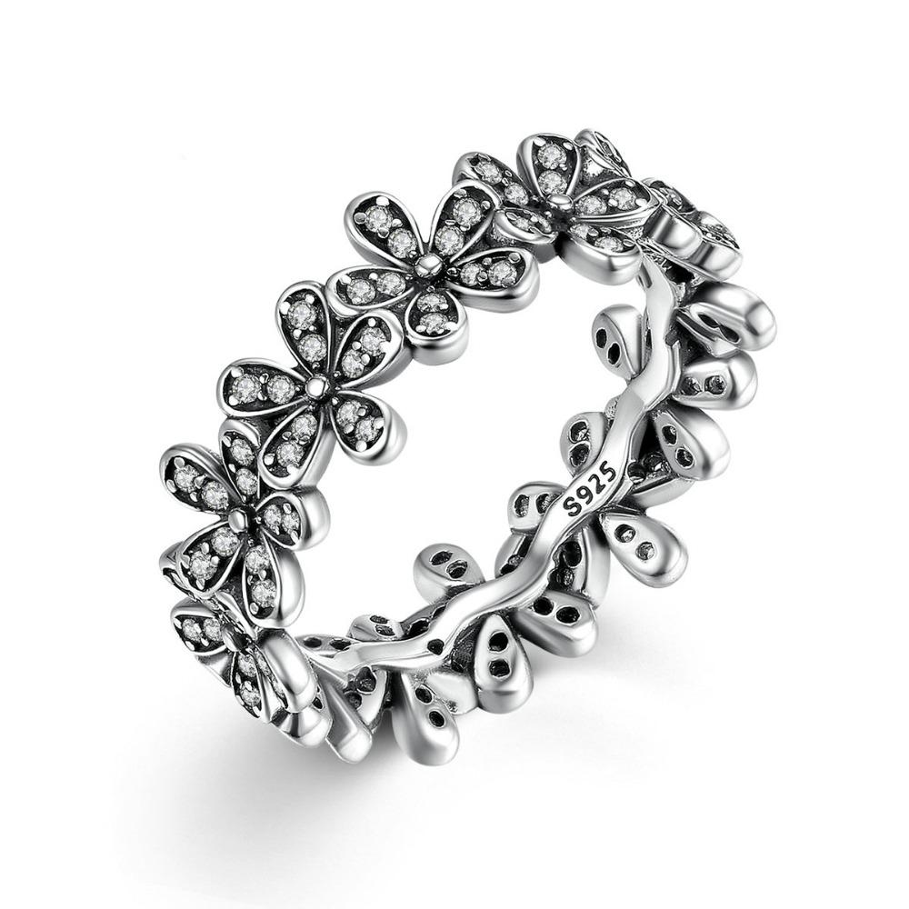 Inel din argint Flower
