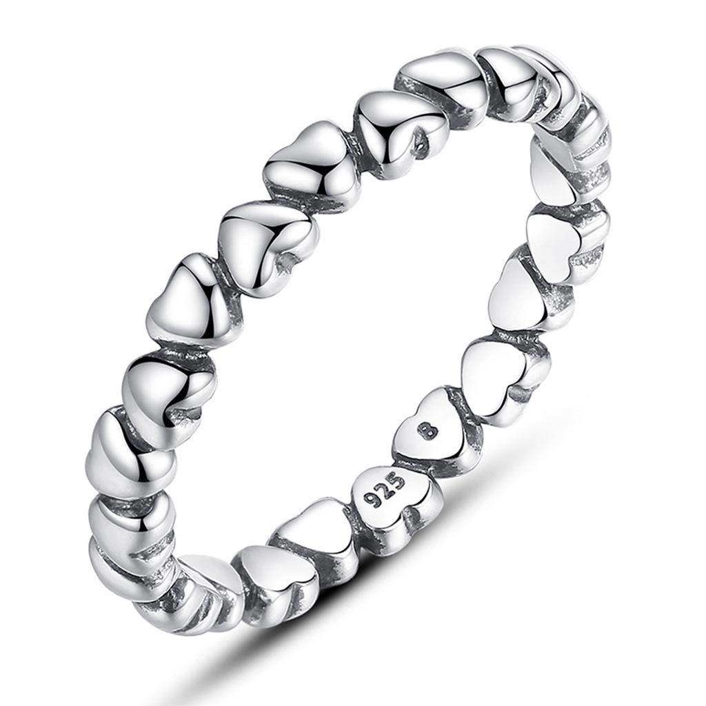Inel din argint Inimi infinite