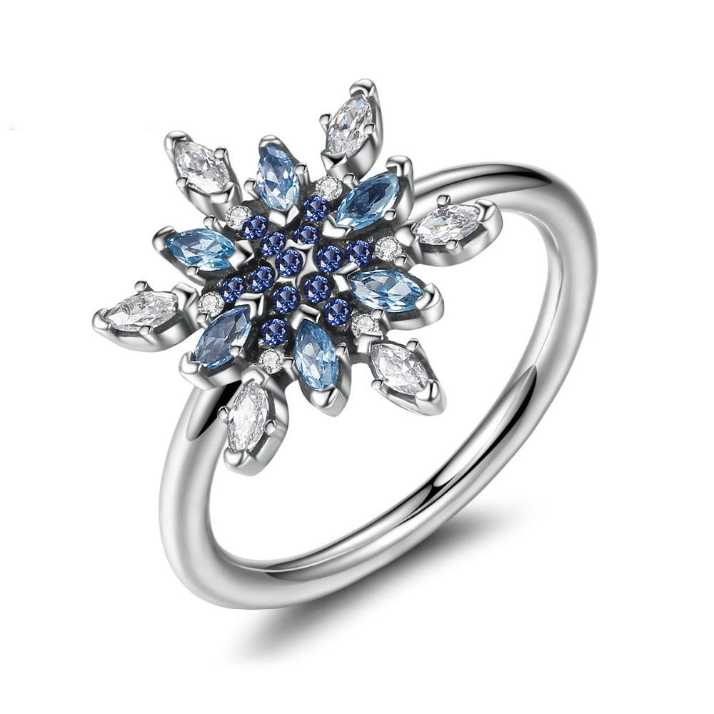 Inel din argint Blue Crystals